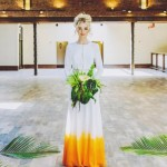 12 Amazing Summer Wedding Dresses with a Pop of Color