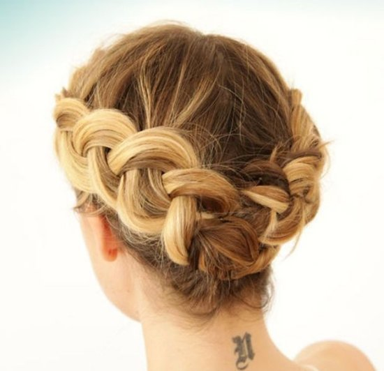 siple tucked braided updo summer hairstyle