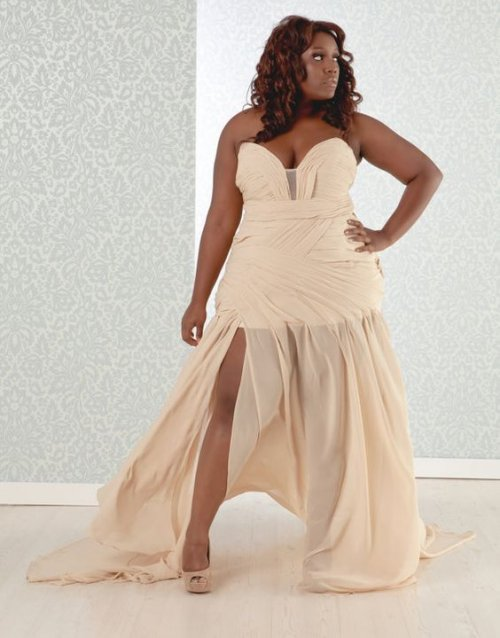 strapless high low plus size summer wedding dress