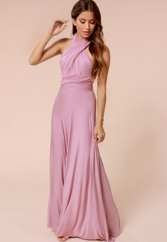beautiful light purple long cocktail summer dress lulus