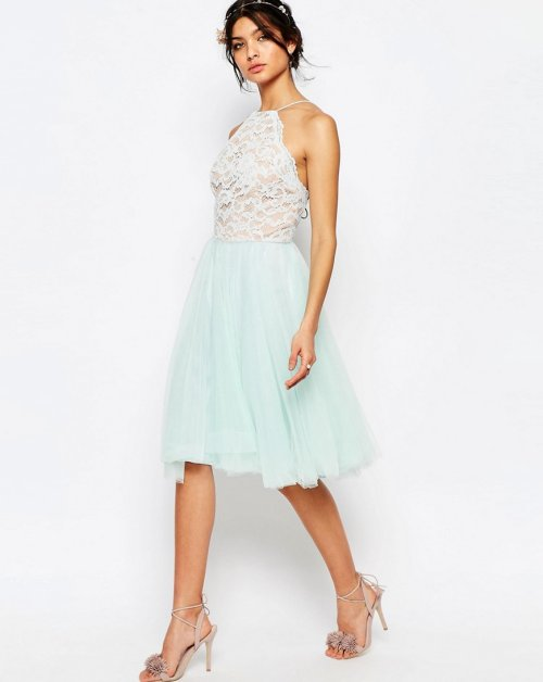 cute lace mint cocktail summer dress halter top Jarlo