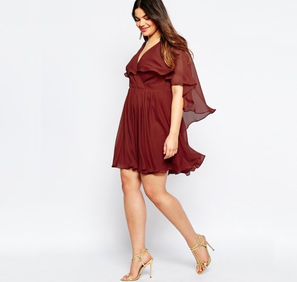 cute plus size caped summer dress asos