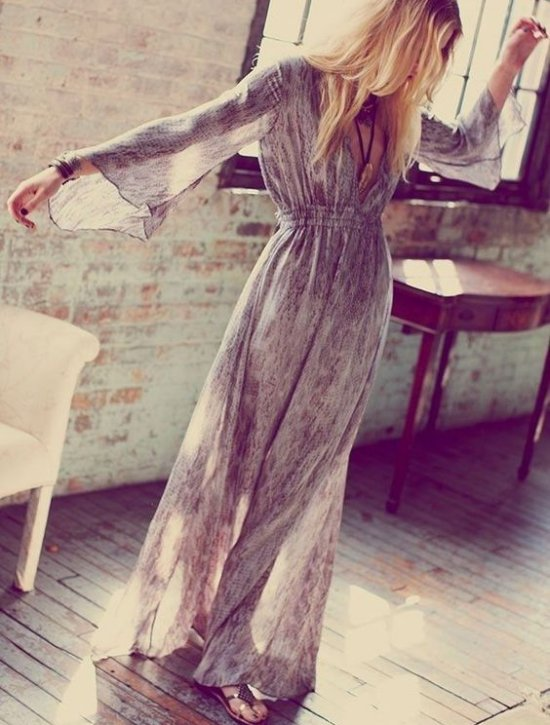 long sleeve v-neck boho long summer dresses Refinery29