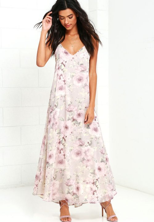 loose lilac floral long beach summer dress cover up lulus