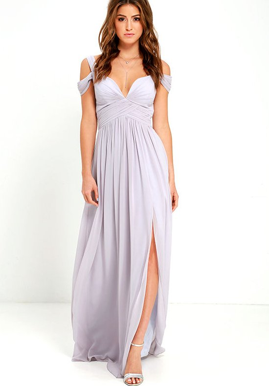 sexy long grey cocktail summer dress v-neck lulus