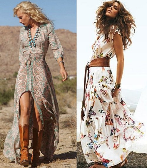 bohemian style long dresses summer maxi dresses long sundresses styles outfit ideas 3152