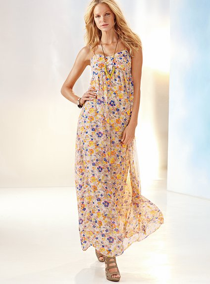Beautiful Flowery Maxi Summer Dresses 2011