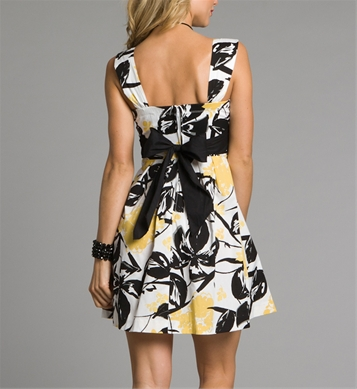 d8f228ab77a Black   White Summer Dresses with Yellow Flowers 2011