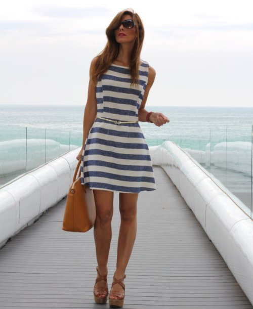 blogger style  striped summer dresses 2013